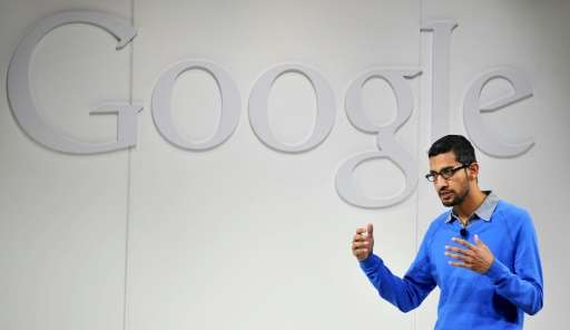 Sundar Pichai, pictured on July 24, 2013, was named chief executive officer as Google unveiled a new corporate structure creatin