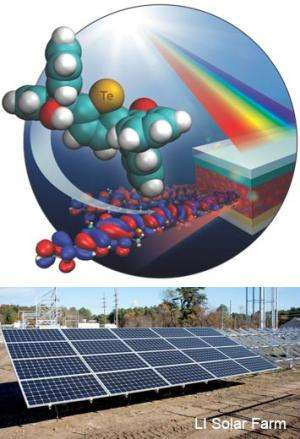 Swapping tellurium for sulfur improves light absorption in organic solar cells