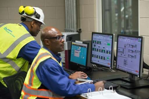 Technicians monitor operations at DC Water's Blue Plains plant