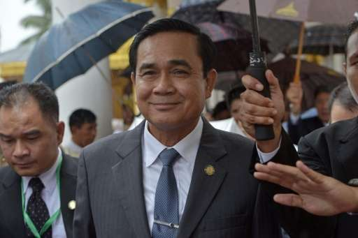 Thai junta leader and Prime Minister Prayut Chan-O-Cha, pictured during a trip to Myanmar, in October 2014