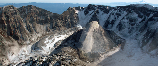 The ashes of Mt. St. Helens