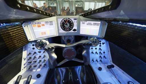 The driver's console of the Bloodhound Supersonic Car on September 24, 2015
