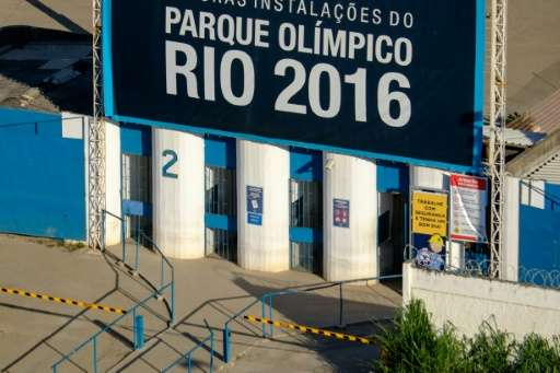 The entrance gate of the Olympic Park in Rio de Janeiro, Brazil, on June 11, 2015
