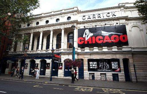 The Garrick Theatre in London's West End is pictured on September 1, 2012