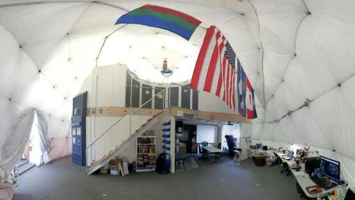 The interior of the HI-SEAS habitat in Hawaii where six people are taking part in the longest US isolation experiment yet aimed