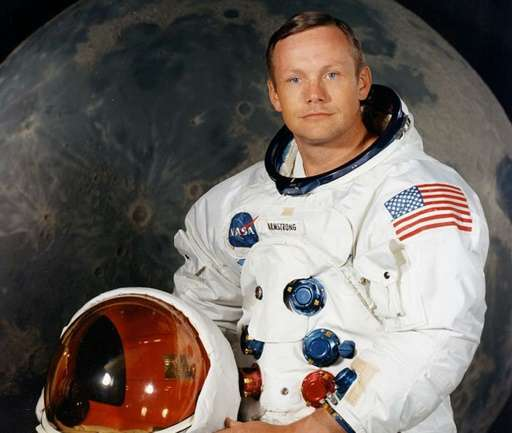 The official portrait of Neil Armstrong, the first man to set foot on the moon