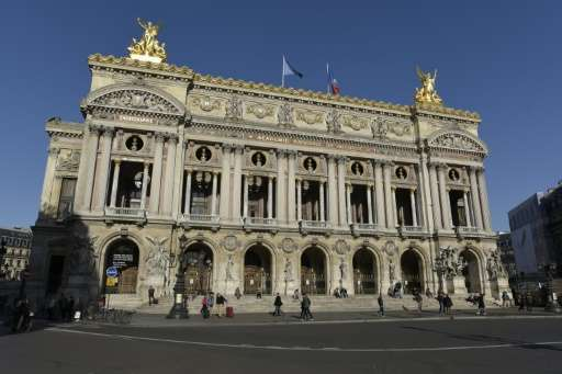 The Opera Garnier in Paris, photographed November 26, 2015 is among venues accessible to online arts enthusiasts through the new