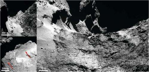 There's a crack forming on Rosetta's 67P. Is it breaking up?