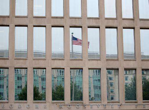 The Theodore Roosevelt Federal Building that houses the Office of Personnel Management headquarters, pictured in Washington, DC,