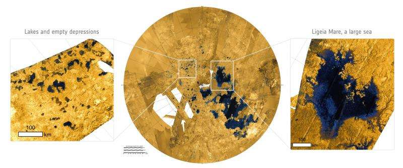 Titan's surface dissolves like sinkholes on Earth