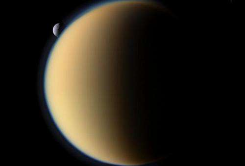 Titan's was atmosphere created by gases escaping the core