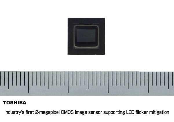 Toshiba's 2-megapixel CMOS image sensor for vehicles mitigates LED flicker