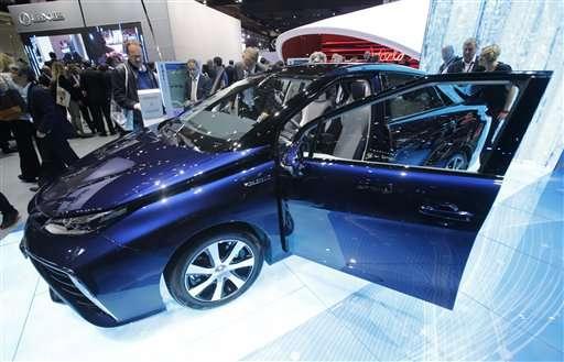 Toyota launches hydrogen-fueled sedan