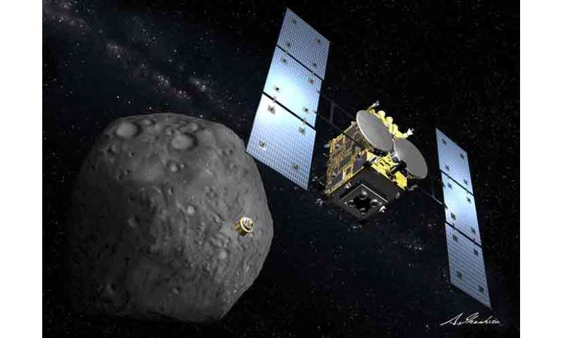 Tracking Japan's asteroid impact mission