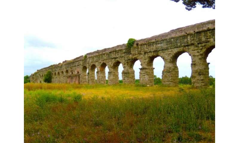 Travertine reveals ancient Roman aqueduct supply