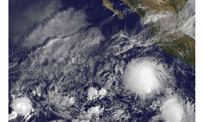 Twenty-first depression forms in eastern Pacific Ocean
