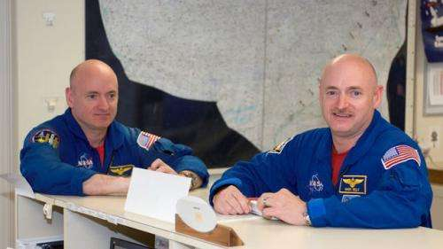 Twin astronauts provide Earth-bound control for orbital health study