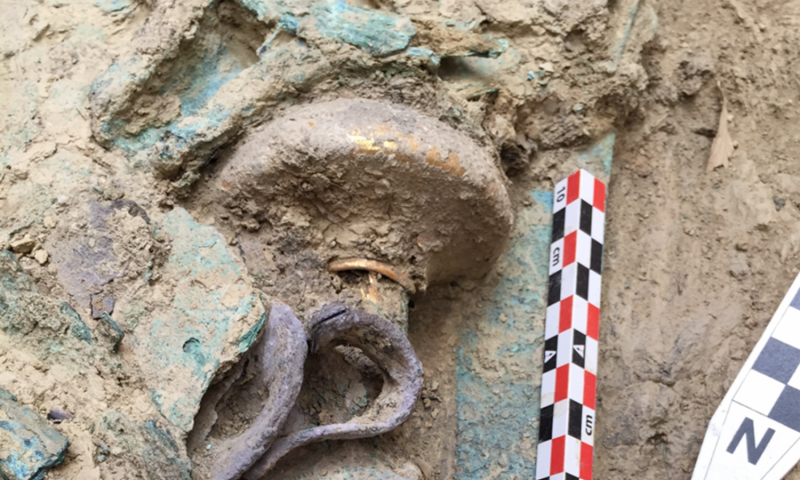 UC team discovers rare warrior tomb filled with Bronze Age wealth and weapons