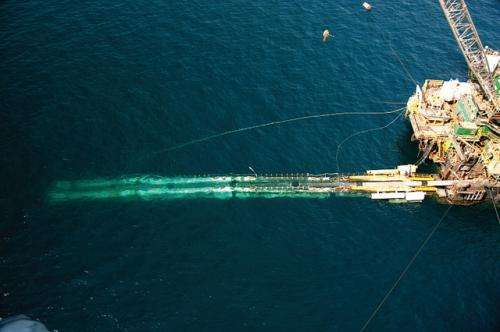 "Undersea pipes ""shoulder"" anchoring duties"