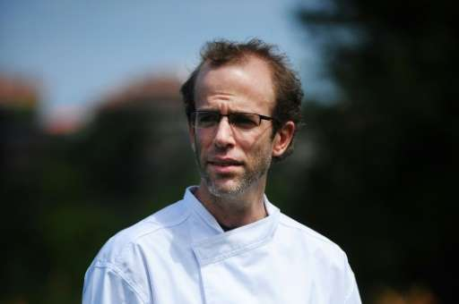 US chef Dan Barber takes part in the presentation of the Basque Culinary Center, on July 26, 2010, in the northern Spanish Basqu