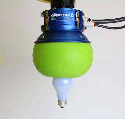 VERSABALL gripper to play ball and cup game at CES