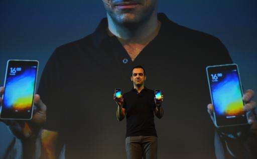 Vice President of Xiaomi Global, Hugo Barra gestures during the launch of Xiaomi's Mi4i smart phone in New Delhi on April 23, 20