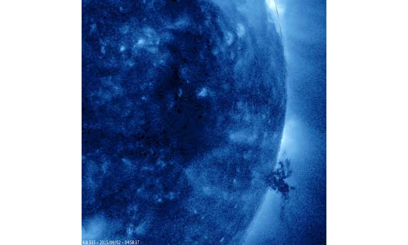 Video: Complex mass of solar plasma