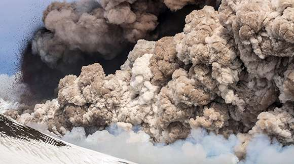 Volcanic ash proves inefficient cloud ice maker