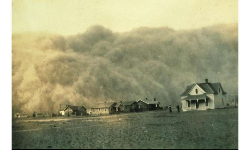 Warm oceans caused hottest Dust Bowl years in 1934/36