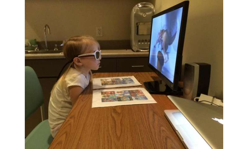 Watching movies helped improve vision in children with amblyopia