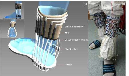 Wearable energy generator uses urine to power wireless transmitter