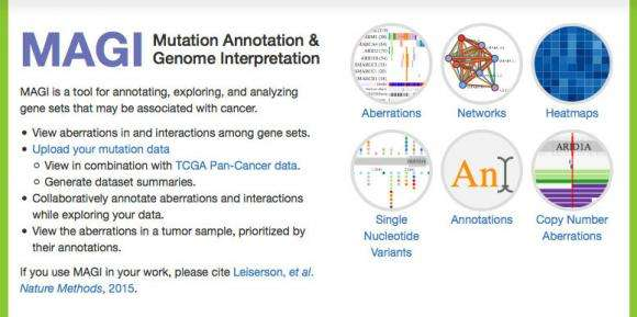 Web app helps researchers explore cancer genetics