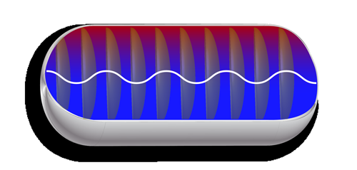 Weighing gas with sound and microwaves