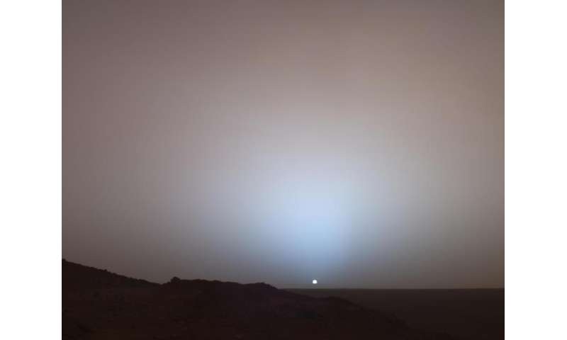 What makes Mars sunsets different from Earth's?