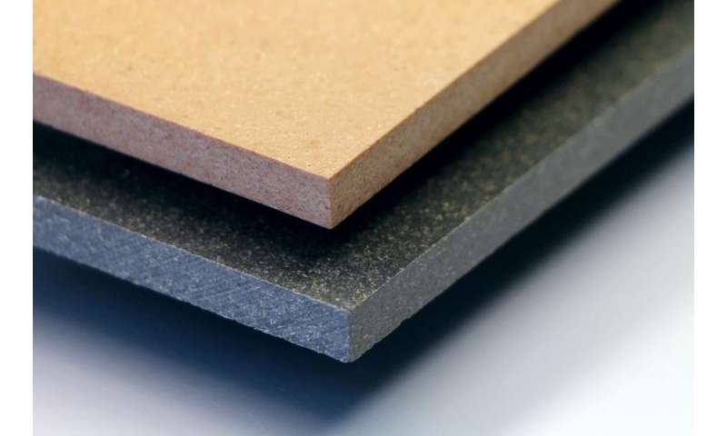 Wood-polymer composite furniture with low flammability