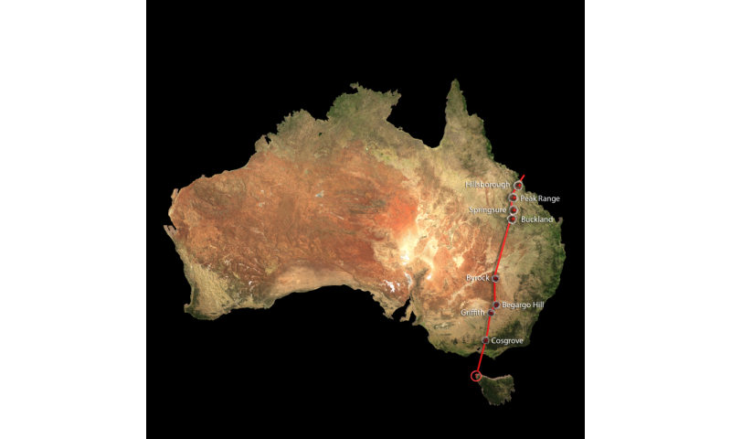 World's longest continental volcano chain in Australia: ANU media release