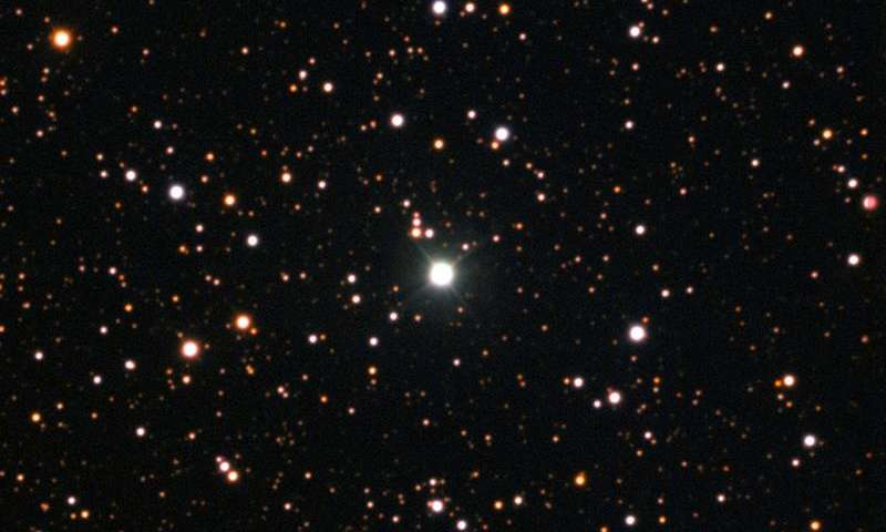 Young lithium-rich giant star discovered