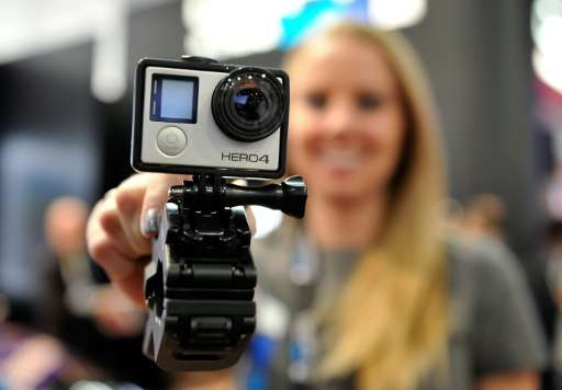 A GoPro Hero 4 camera is displayed at the 2015 International CES on January 6, 2015 in Las Vegas, Nevada