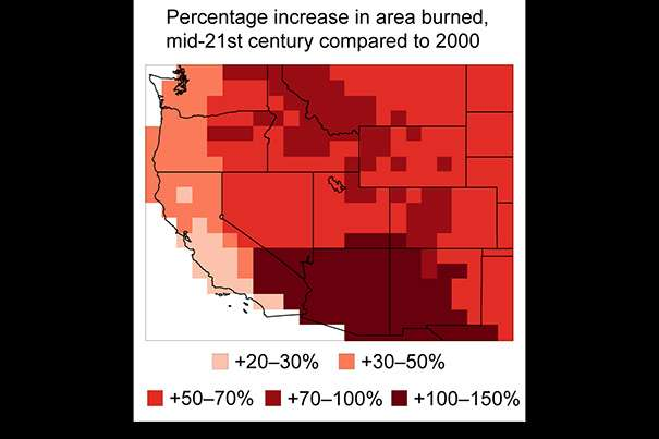 By 2050, the U.S. wildfire season will be three weeks longer, up to twice as smoky