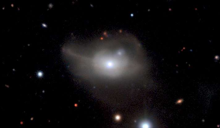 Changes in a distant quasar