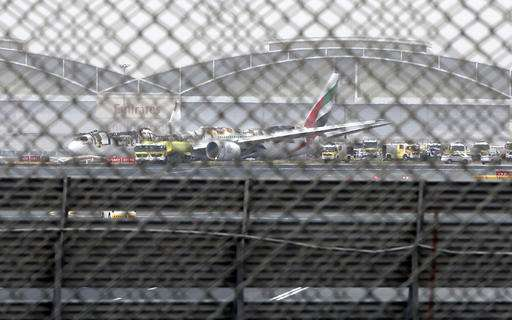 Emirates jet crashed as gear went up for 2nd landing attempt