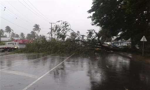 Ferocious cyclone strikes Pacific island nation of Fiji