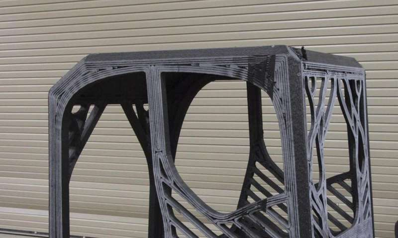 First-ever 3-D printed excavator project advances large-scale additive manufacturing R&D