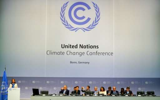 French Environment Minister Segolene Royal speaks during the opening ceremony of the Bonn Climate Change Conference as part of t