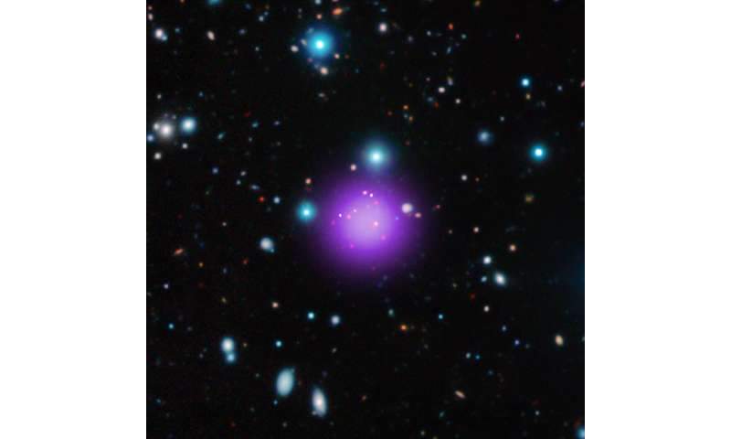 Galaxy cluster discovered at record-breaking distance