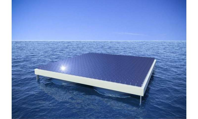 Hundred-metre long solar platforms that remain steady and stable in rough sea weather