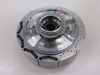 Hybrid car motor uses no heavy rare earth, uses light rare earth element