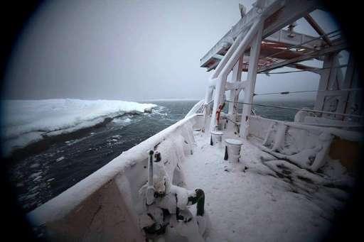 Icebreaker Aurora Australis ran aground at Australia's Mawson research station in Antarctica on February 24, 2016