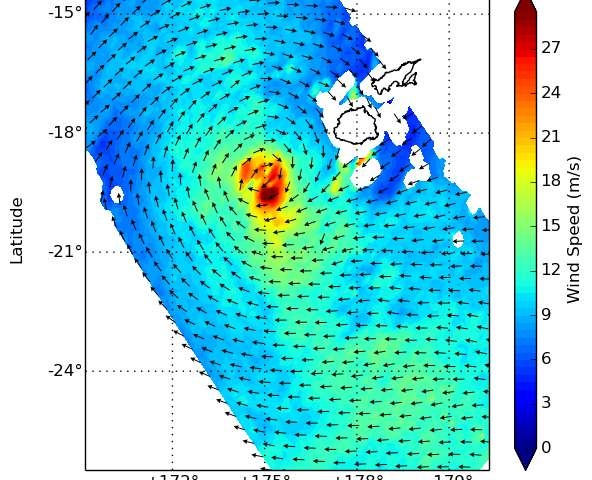 NASA analyzes Tropical Storm Ula's winds