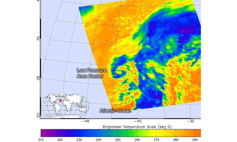 NASA and NOAA satellite data see North Atlantic system more concentrated
